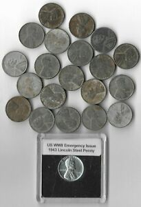 Rare WWII US Collection Steel Penny WW2 20 Coin Cent Vintage Big War Lot AB25🔥