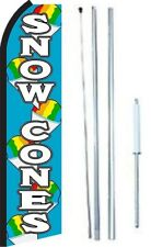Snow Cones Swooper Flag With Complete Hybrid Pole set