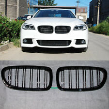 Gloss Black Kidney Grill Grille For BMW F10 F11 M5 5-Serles 2010-2017 2011 2012