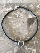 James Avery Sterling Slide Heart Pendant On Leather