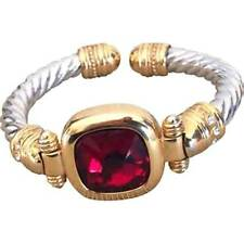 Joan Rivers Changeable Two Tone Cable 7 Color Bangle Bracelet