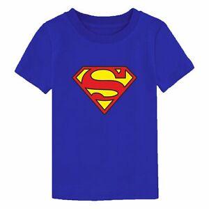 Superman T-Shirt DC Comics Superhero Logo Birthday Gift Christmas Kids Top