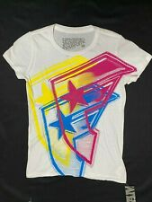 FAMOUS STARS & STRAPS LADIES FITTED TOP TSHIRT OFFSET LOGO
