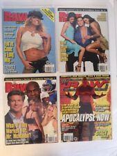 Lot of 4 WWE Raw Magazine 2003 Oct Nov Dec Holiday Orton Kane Stacy Kiebler WWF