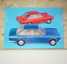 Cartolina pubblicitaria Fiat 124 Sport Coupe' Originale Anni 60 /70