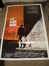 William Friedkin signed To Live and Die In L.A. movie poster 27 x 41 1-sheet