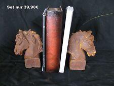 Buchstütze Gusseisene Pferdekopf Pferdebüste Pferd