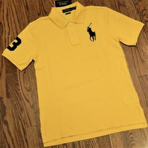 POLO RALPH LAUREN ORIGINAL BOYS NEW AUTHENTIC YELLOW T-SHIRT Size M (10-12), NWT