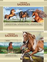 Wild Horses Pferde Chevaux Animals Fauna Guinea MNH stamps set