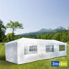 Deluxe Wedding Events Gazebo Outdoor Marquee Party Tent 3m x 9m White Cooper