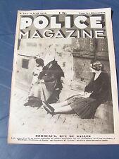 Police Magazine 1933 124 SAINT BARTHELEMY D'ANJOU MEUDON PROSTITUTION BORDEAUX