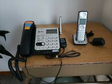 AT&T CL84102 DECT 6.0 Expandable Corded/Cordless Phone with Answering System and