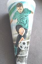 Schultüte Fussbal gefülltl  22 cm rund Zuckertüte Schulanfang Junge