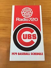 1979 Chicago Cubs Pocket Schedule WGN Radio 720 Baseball