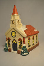 Decorative Christmas Church - Resin Painted with Snow and Tree