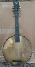 Antique 8 string banjo dated late 1800s to early 1900s Mother of Pearl inlays.