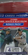 2019 Panini Prizm Baseball Trading Cards Pack 15 Cards Includes a Bonus Pack