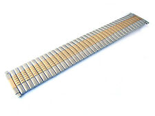 Wide Stretch Expansion Two-Tone Steel Metal Watchband 21-26 Millimeters (2MS952)