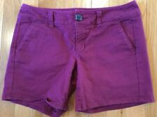 American Eagle Outfitter Midi Shorts Stretch Size 0 Burgundy Color