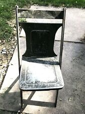 AS IS Vintage Metal Folding Chair Photo Prop Collectible Antique Display