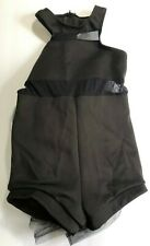 Weissman Girls Dance costume Black Bustle Size Medium Child Style #7729