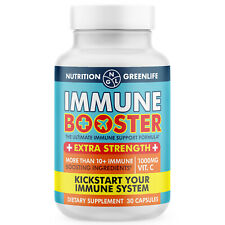 Immune Booster Vitamin C, Zinc, Iodine, Copper, Vit E, Beta Glucan, Garlic, DMG,