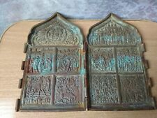 RARE Antique Icon OLD Antique TRAVELING ICON SKLADEN Orthodox RUSSIAN Empire