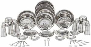 Indian Handmade Stain Resistant Designer Stainless Steel Dinner Set of 44 Pcs