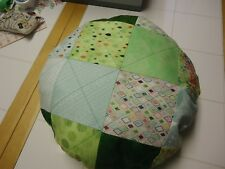 Quilted Green Round  Pillow(Made by me)