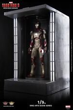 King Arts Diecast Marvel Iron Man 3 LED Iron Man Garage Display Ver.1/9
