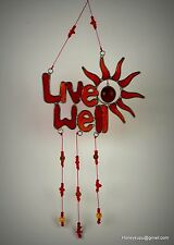 Live Well Sun Mobile/Suncatcher, New Year resolution! Free Shipping