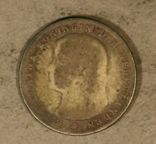 1895 Netherlands 25 Cents Silver Rare Coin Slanted MM ** FREE U.S SHIPPING **