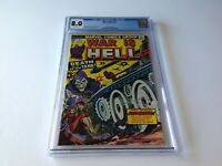 WAR IS HELL 10 CGC 8.0 WHITE PAGES DEATH IS A 30 TON TANK MARVEL COMICS