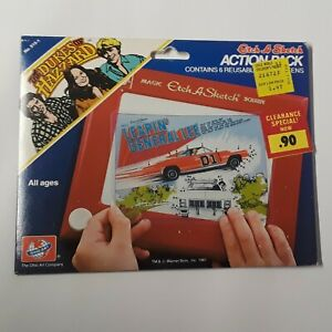 Vintage Dukes of Hazzard Etch-A-Sketch Action Pack, 6 Screens, Ohio Art