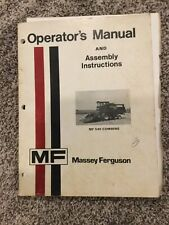 MASSEY FERGUSON MF-540 COMBINE OPERATION & MAINTENANCE MANUAL BOOK Owners Man