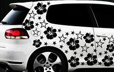 114x Auto Aufkleber Sterne Star Hibiskus Blume s Schmetterlinge HAWAI WANDTATTOO