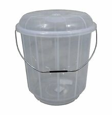 20L Litre Plastic Bucket With Lid Carry Handle Large Storage Container Tub Caddy