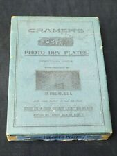 Antique CRAMER'S Lightning Photographic Dry Plates Empty Box St. Louis MO