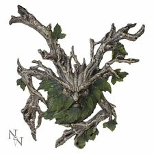 More details for wylde jack wall hanging plaque 38x33cm green man wiccan pagan nemesis now