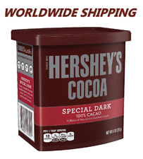 Hershey's Cocoa 100% Cacao Special Dark 8 Oz WORLDWIDE SHIPPING