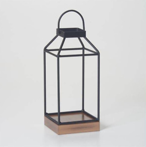 "10""Black Metal Candle Lanterns Vintage Decorative Indoor/Outdoor Hanging Lantern"