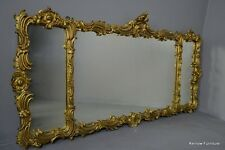 Large Ornate Rococo Style Overmantle Mirror