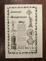 1903 Manning Bowman - Edward Miller 2 sided Advertisement Meriden CT Vintage ad