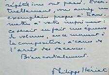 7 lettres de Philippe Hériat sur ses activités littéraires.