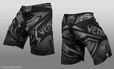 Venum Men's Shadow Hunter Fight Shorts MMA Black/Grey Large