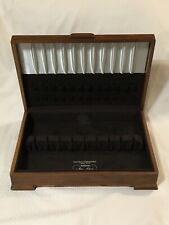 State House Sterling Chest Lined w/ Pacific Silver Cloth WalnutWood Storage Case