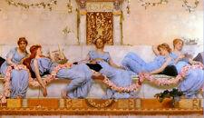 Dream-art Oil painting Reynolds Stephens Sir William Interlude 5 young girls ART