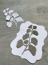 Stanzschablone/ Cutting dies  Gingko Gingkozweig Zweig Blumen  5,5 x 8,5 cm