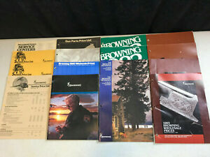 vintage Set of 16 1980-84 Browning Price Lists Product Guide Brochures