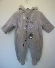 Weekend A La Mer Grey Nautical Embroidered Fleece Pram Suit Age 3 Months